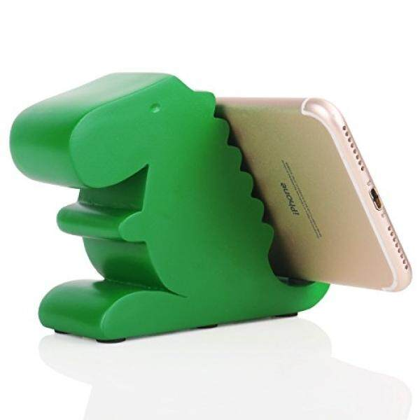 Smartphone Cases Stands Plinrise Resin Art Craft Cute Tyrannosaurus Dinosaur Desktop Cell Phone Stand Mounts,Decorative Candy Color Animal Dino Creative Smart Phone Holder For iPhone iPad Samsung Tablet Kindle - Green - intl
