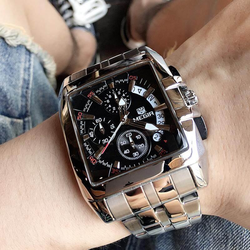 f5a94f6d8cf 2018 MEGIR 2018 Original Luxury Men Watch Stainless Steel Mens Quartz  Watches Casual Fashion Business Big