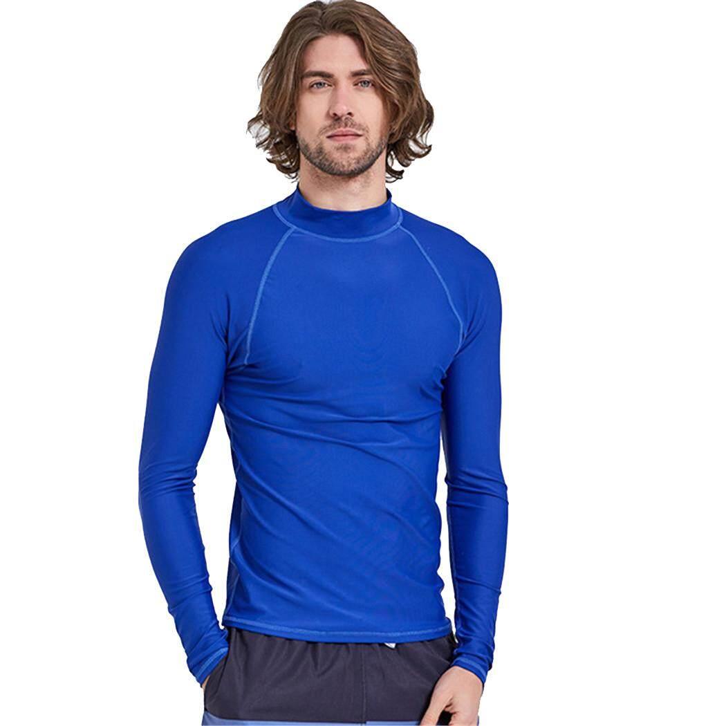 แขนยาวสำหรับผู้ชาย Uv ป้องกันเสื้อดำน้ำว่ายน้ำแบบสน็อกเกิลชุดโต้คลื่นแมงกะพรุนเสื้อยืดชายหาด 720l - Intl.
