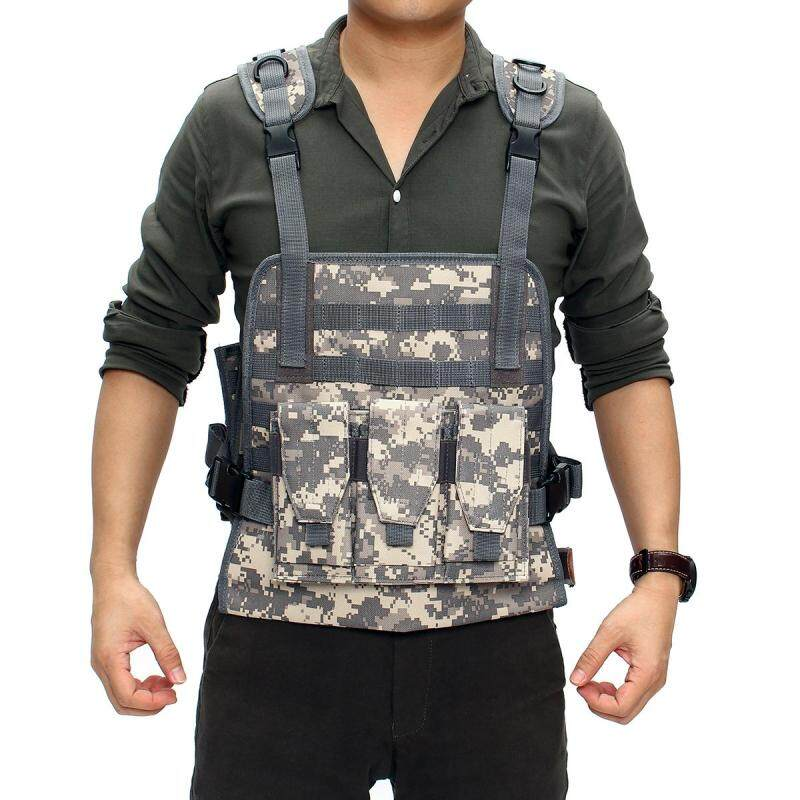 Outdoor Hunting Military Tactical Vest Body Armor Jungle Equipment Plate Carrier With Pouches ACU Camouflage