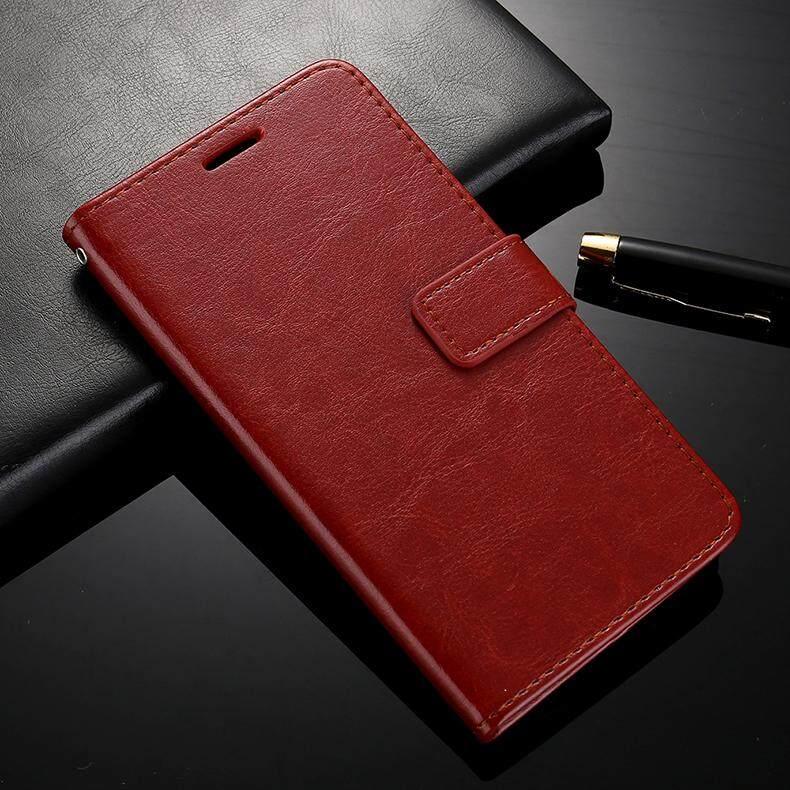 ... Dompet Flip Sarung Pelindung untuk BBK Vivo V5 LITE Kanvas Kulit Imitasi Kantung Telepon Gengam Cover