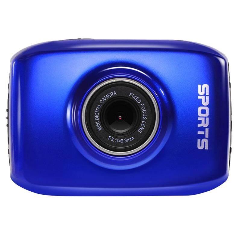 Tahan Air 2 Inch Layar LCD 120 Derajat + HD X3 Digital Lensa Variabel Dukungan USB Kartu TF dengan 500 Baterai MAh Isi Ulang (Termasuk Berbagai Aksesoris) kamera Olahraga (Biru)-Intl