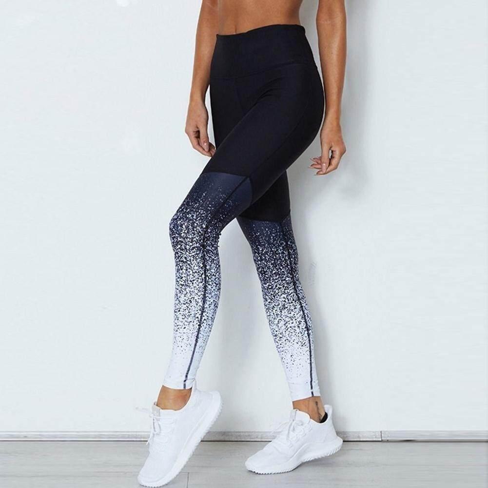 9b674731cc915 Women Digital Printing Hip-lifting Yoga Trousers High-waist Sports Long  Pants Gift