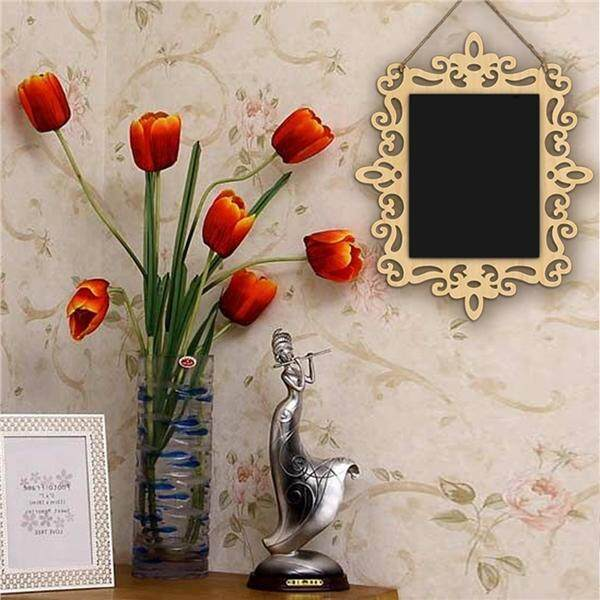 Rectangle Shaped Hanging Wooden Blackboard Chalkboard Wordpad Message Board By Eshopdeal.