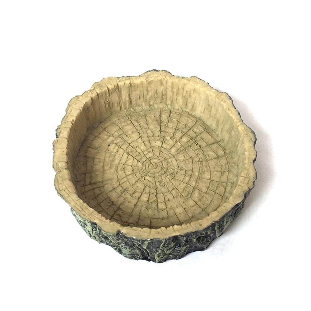 Fang Fang Food Water Dish Bowl Feeder Tortoise Reptile Lizard Turtle Amphibian Feeding Pot New - Beige By Fangfang_719.