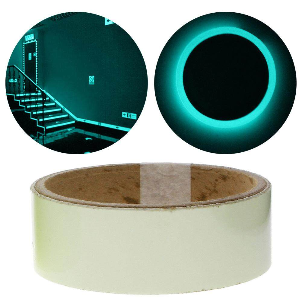 3cm*1m Fluorescent Tape Night Self-adhesive Glow In The Dark Sticker Luminous Home Decor Indoor Stairways Decoration ,1 piece, Width 3cm