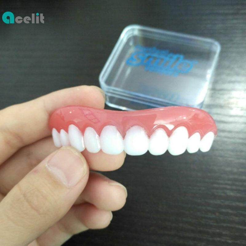 Acelit Teeth Perfect Instant Smile Veneers Secure Comfort Fit Top False Dental New New