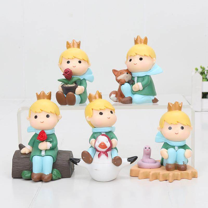 5pcs/set 8cm The Adventures of the Little Prince PVC Figure Toy Collectible model doll