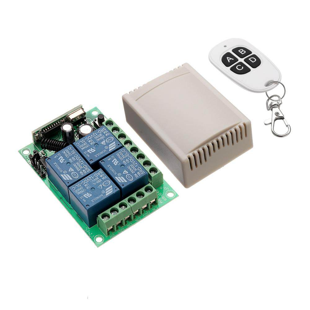 433mhz DC 12V Learning Type 4CH Channel Wireless Remote Control Switch Four Way Relay Control Module Philippines