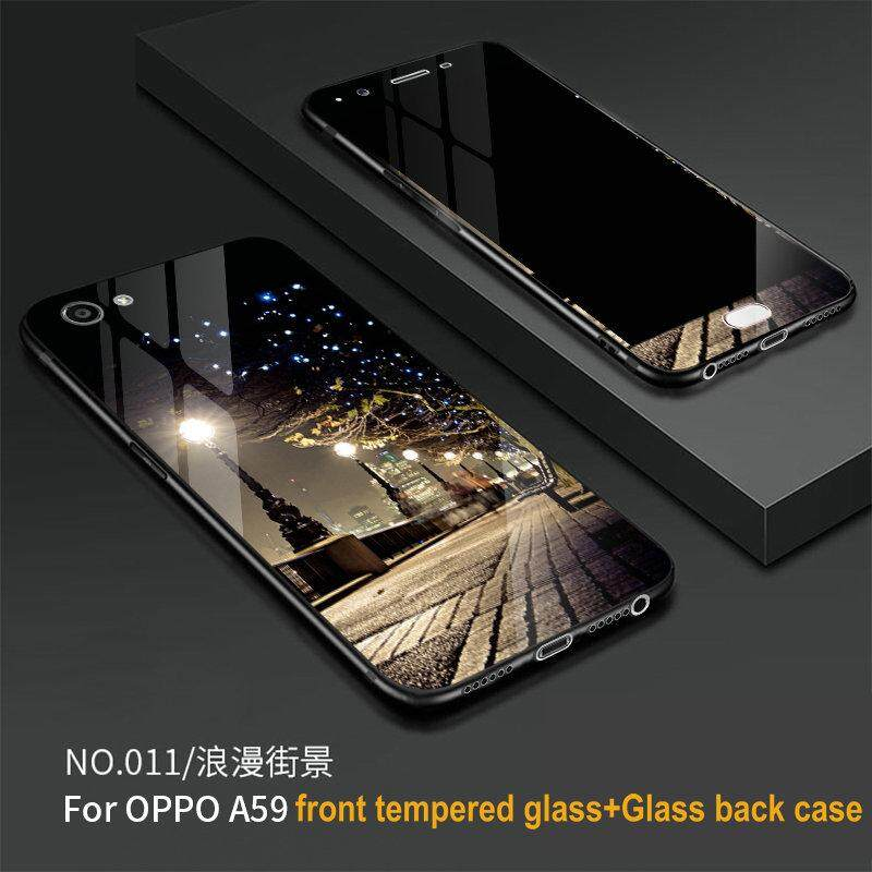 Luxury 360 Degree Full Cover Tempered Glass Phone Case for OPPO A59 = F1S Protective Mobile