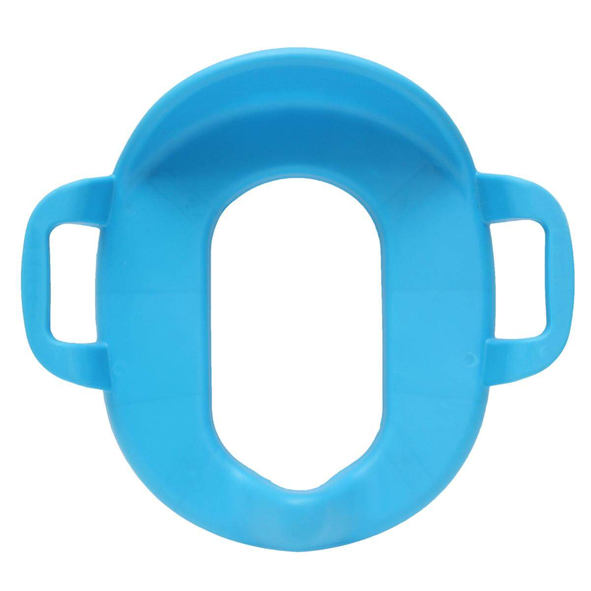 Children Potty Training Seat Kids Baby Toddler Handle Toilet Soft Pad Portable  Blue By Moonbeam.