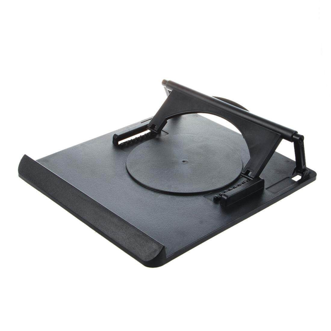 Universal Portable Laptop Desk Swival Stand Cooling Pad