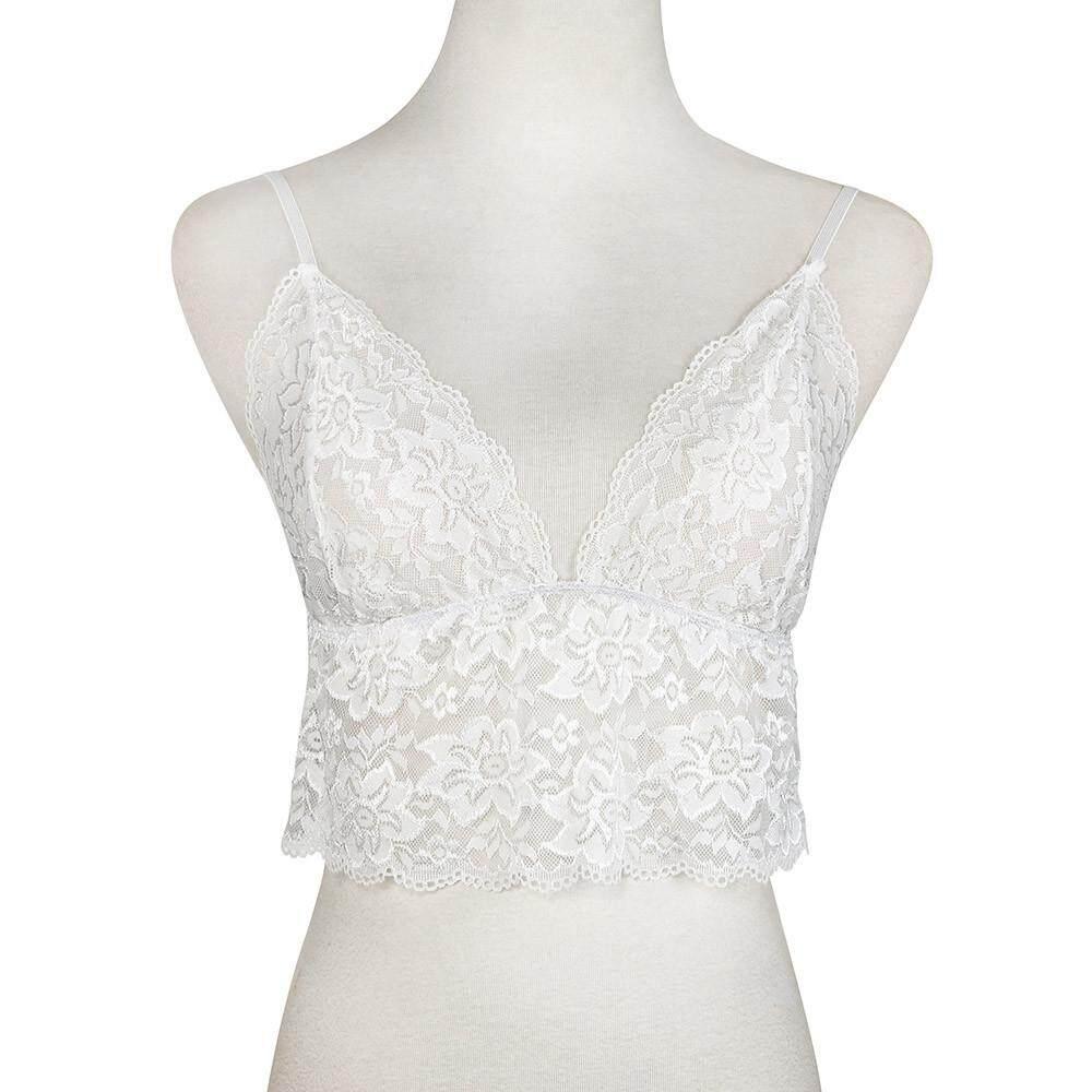 3d92d34fba Inesshop Women Lace Floral Sheer Triangle Bralette Unpadded Bra Crop Top  Lingerie
