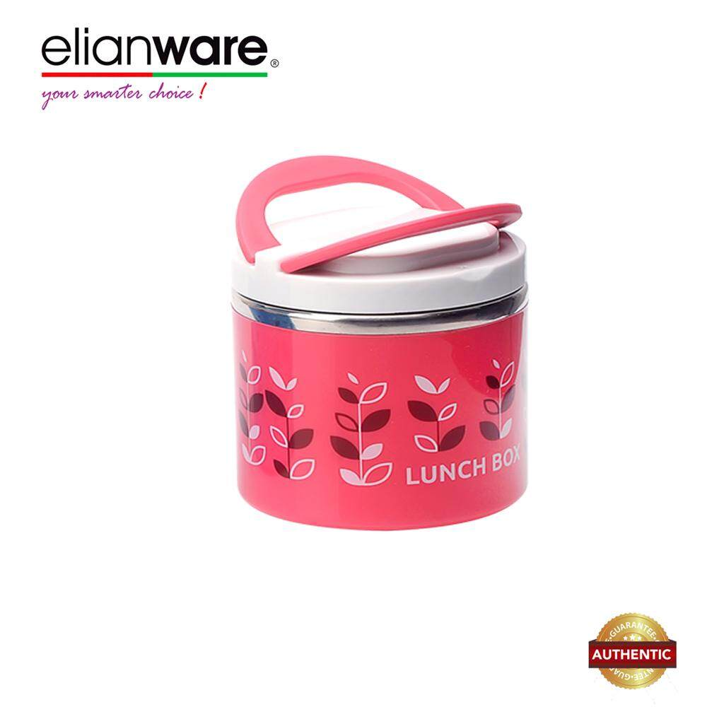Elianware 900ml S304 Stainless Steel BPA Free One Layer Large Thermal Lunch Box