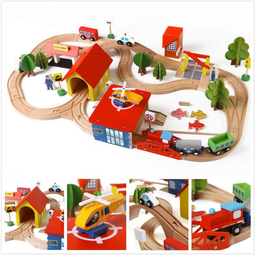 Diy Kayu Rel Kereta Api Puzzle Kereta Api Balok Susun Mainan Untuk Anak-Anak Hadiah Natal By Ytgp Fashion.