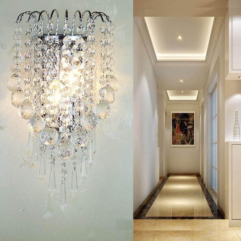 LED Crystal Wall Light Modern Creative Art Light Bedside Bedroom Living Room Clothing Store Restaurant Aisle