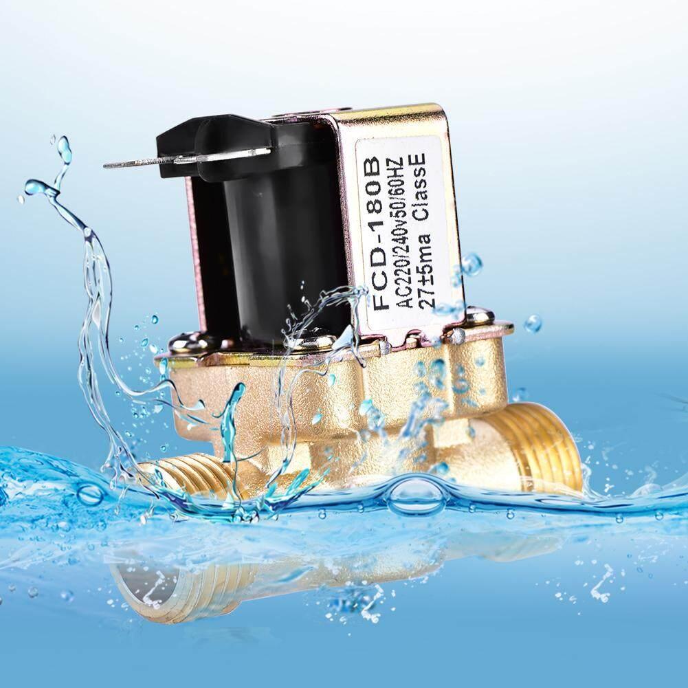 1/2 Ac 220 V ปกติปิดทองเหลืองไฟฟ้า Solenoid วาล์วแม่เหล็กสำหรับควบคุมน้ำ By Eleganthome.
