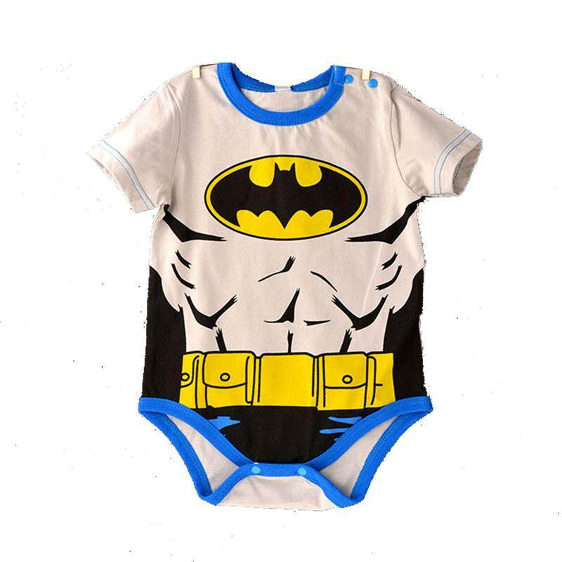 2543e8e68 Newborn Baby Superhero Romper Short Sleeve Cartoon Toddler Jumpsuit Bodysuit  One Piece Costume Clothes Homewear Pajamas
