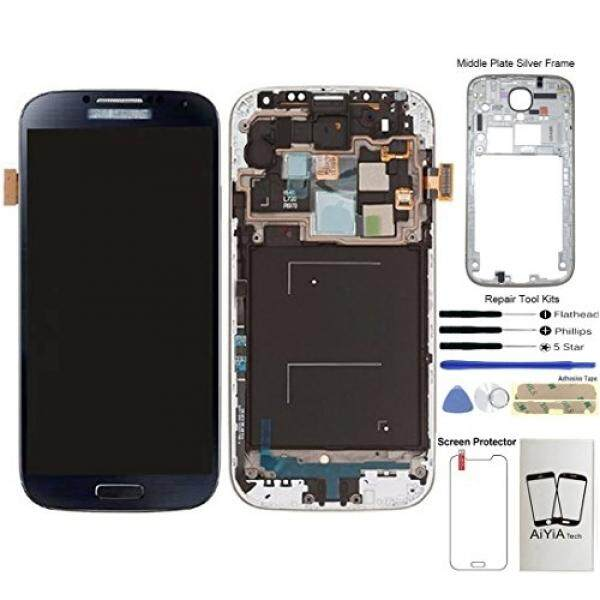 Display Touch Screen (AMOLED) Digitizer Assembly with Frame for Samsung Galaxy S4 (SIV) SCH- I545 / SPH- L720 / SCH- R970 (for Mobile Phone Repair Part Replacement)(Free Repair Tool Kits) (Black Mist)