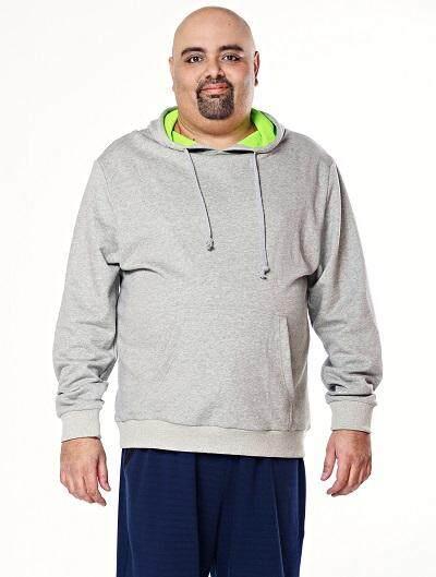 Jazz & Co Men Plus Hodded L/S Sweatshirt ( Grey)