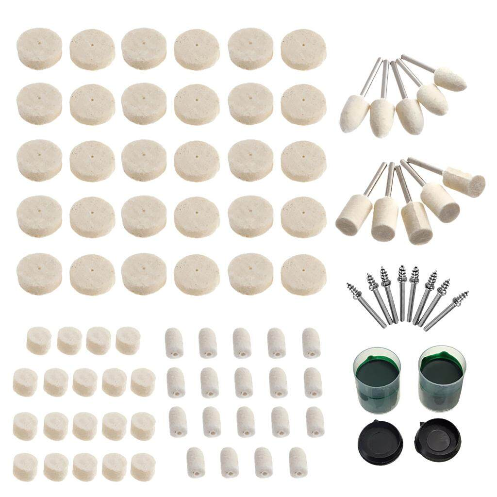 Magideal Set 90pcs Soft Felt Polishing Pad Buffing Pad Wheel Rotary Tool Multifunction Tools By Magideal.