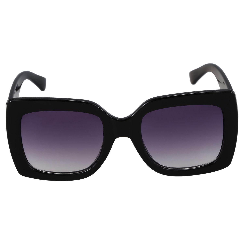 7b88b8eeb535 Square Sunglasses Women Vintage Oversized SunGlasses Luxury Ladies Eyewear  S17069 Black