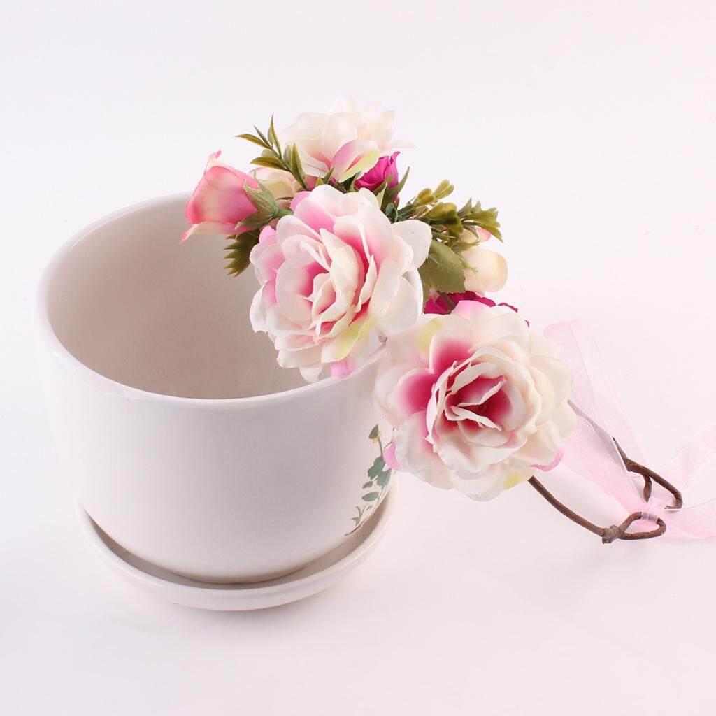 Flower crown price in singapore flower crown headband wedding floral hair accessory hairband wreath mommy kids intl izmirmasajfo