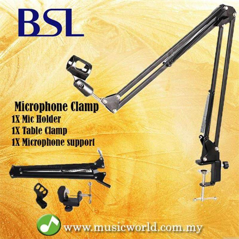 BSL Mic Stand Microphone Clamp with Mic Holder Table Clamp Stand Holder Foldable Malaysia