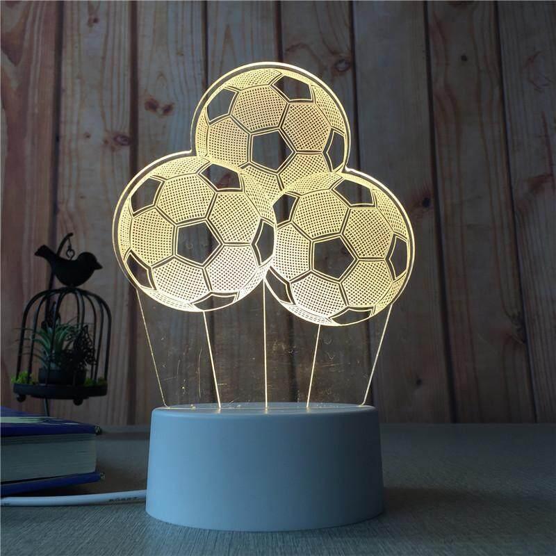 3D Optical Illusion LED Table Night Light(Football)