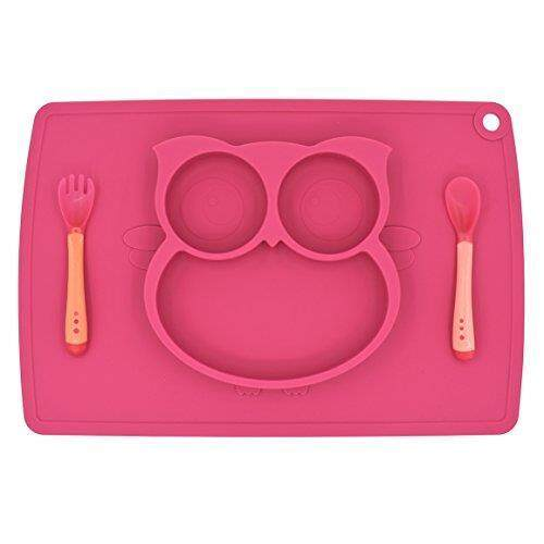 Cups, Dishes & Utensils Responsible Giggle Burp Majestic Blue Suction Portable Placemat For Toddlers Toddler To To Bowls & Plates