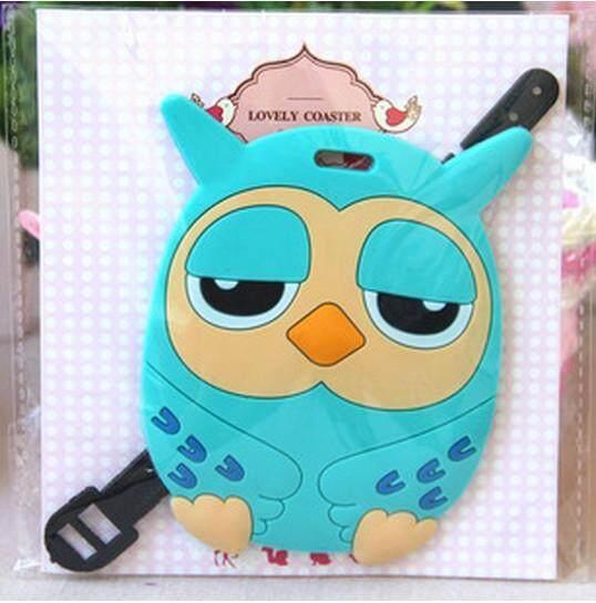 Cute Blue Owl Luggage Tag