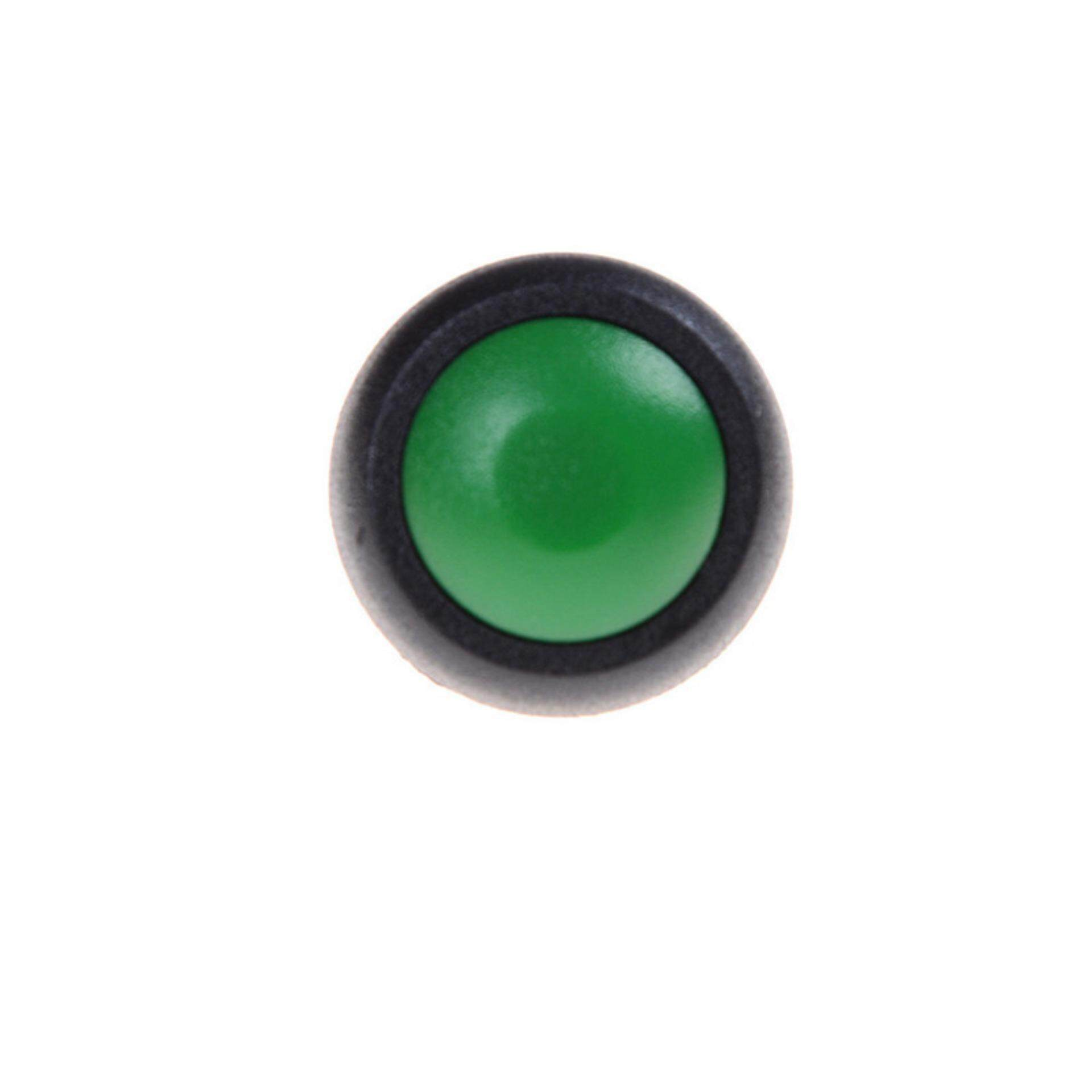 Features 12v Dc Led Light Illuminated Green Round Momentary Push Rocker Switch Spst X2 With Red Indicator Lamps 12mm Waterproof On Off Button Mini