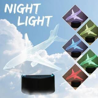 Đèn Đồ Chơi 3D LED Acrylic 7 Màu Đèn Để Bàn Cảm Ứng Ban Đêm Đèn Máy Bay DC5V- thumbnail