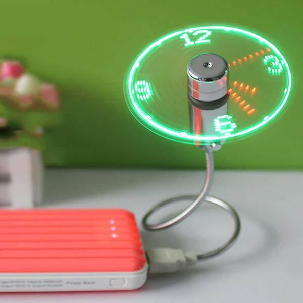 Usb real clock led fan usb snake fan real time display laptop fan