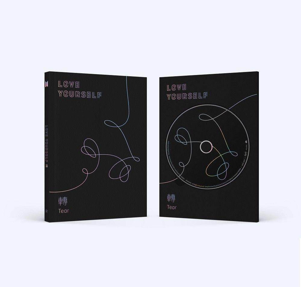 BTS - LOVE YOURSELF 轉 Tear [R ver.] (Vol.3) CD+Photobook+Mini Book+Photocard+Standing Photo+Folded Poster+Free Gift - intl