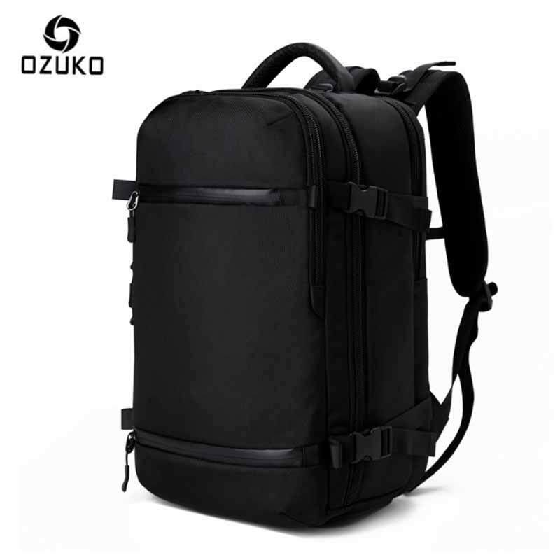 0affea971e6 OZUKO Backpack Men s 20 inch Notebook Computer Big Backpack School Bags For  Teenagers Waterproof Bags(