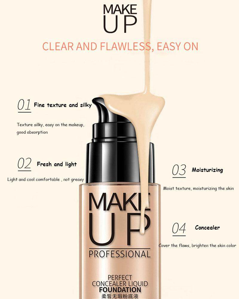 Features Bioaqua Make Up Professional Perfect Foundation 3 Color To Chic Trendy Blush On Original Choose
