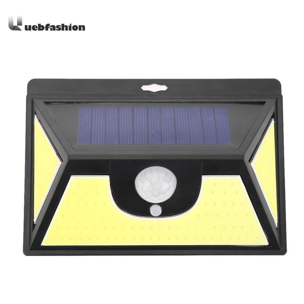 Uebfashion 102 LED Solar Motion Sensor Wall Night Light Waterproof Outdoor Garden Lamp