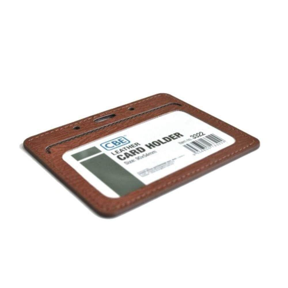 CBE Leather Card Holder 3322 - Brown (2 Sided ) (Item no: B10-41 BR) A1R3B63