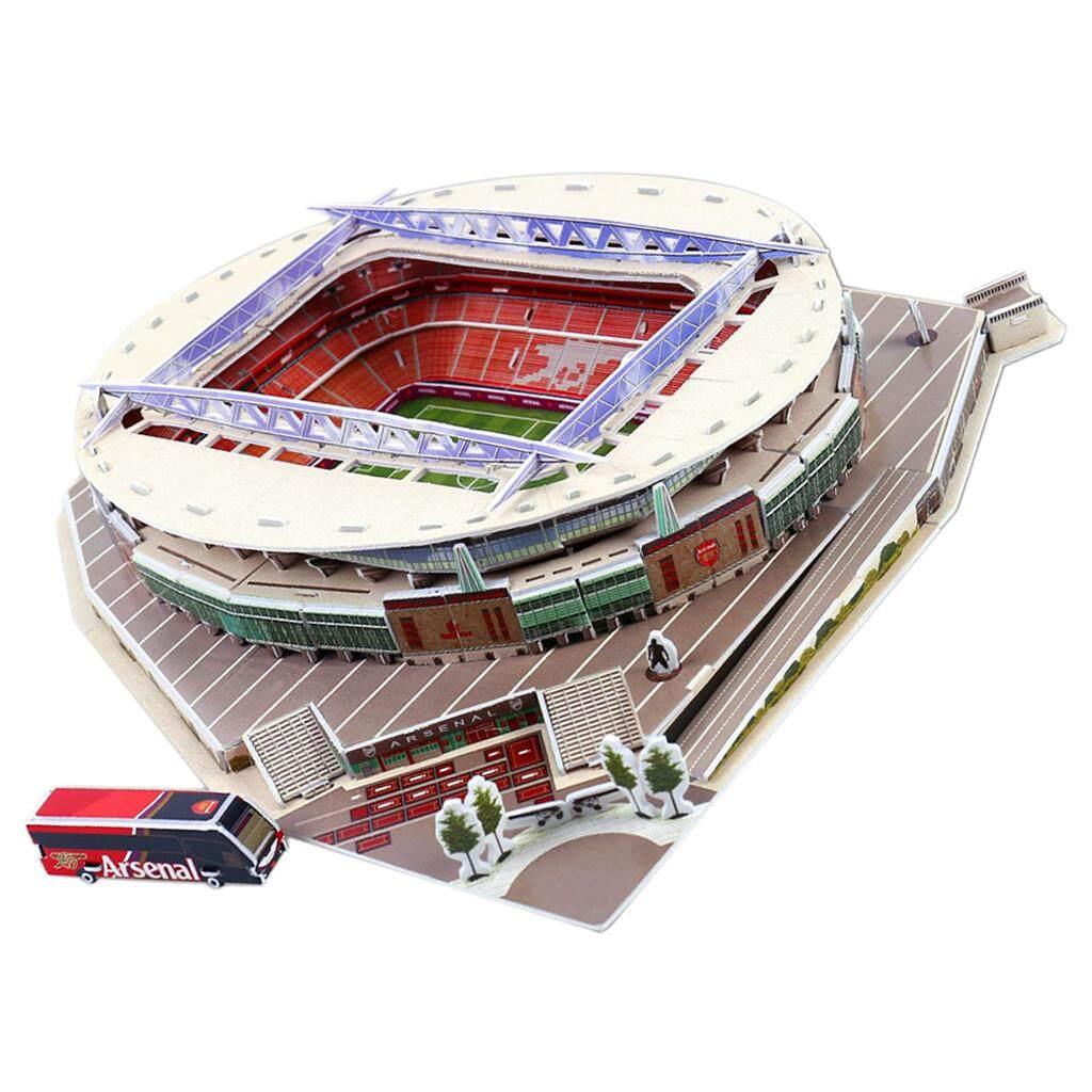 BolehDeals 3D Puzzle Different Countries Football Field Model Emirates Stadium
