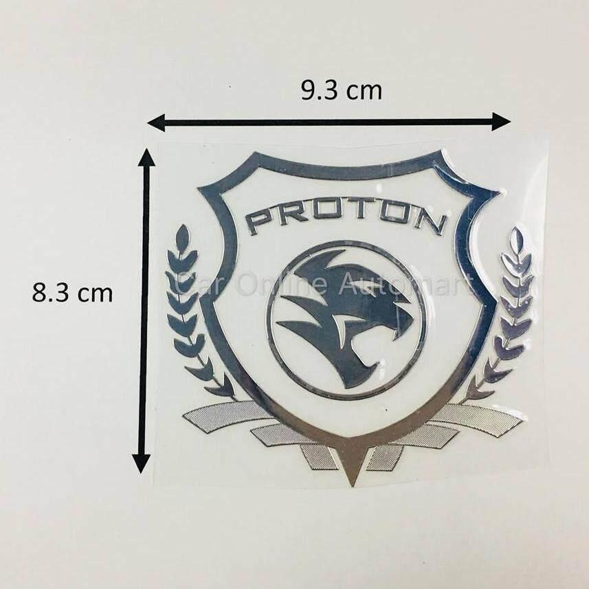 1 x proton proton logosilver car accessories body sticker auto window decorative
