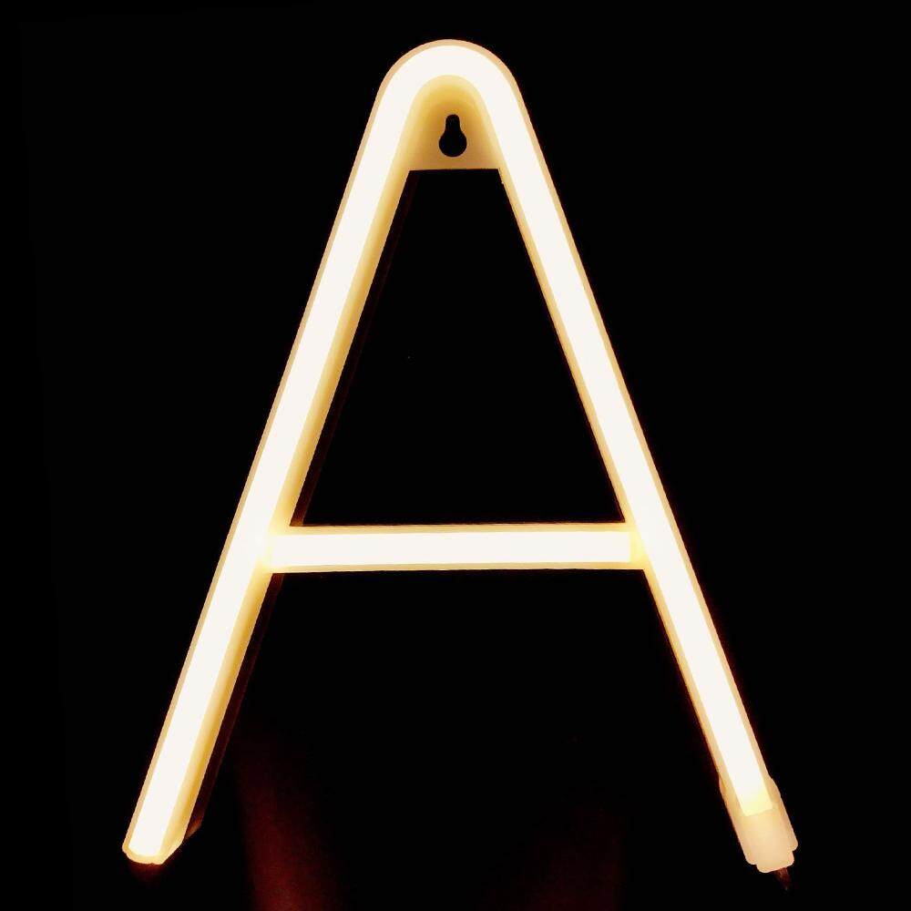 Letter Lamp Operated Powered A Shape Warm White for Home Party Decoration Cafe Shop Restaurant Wedding Function Lamp Shade A