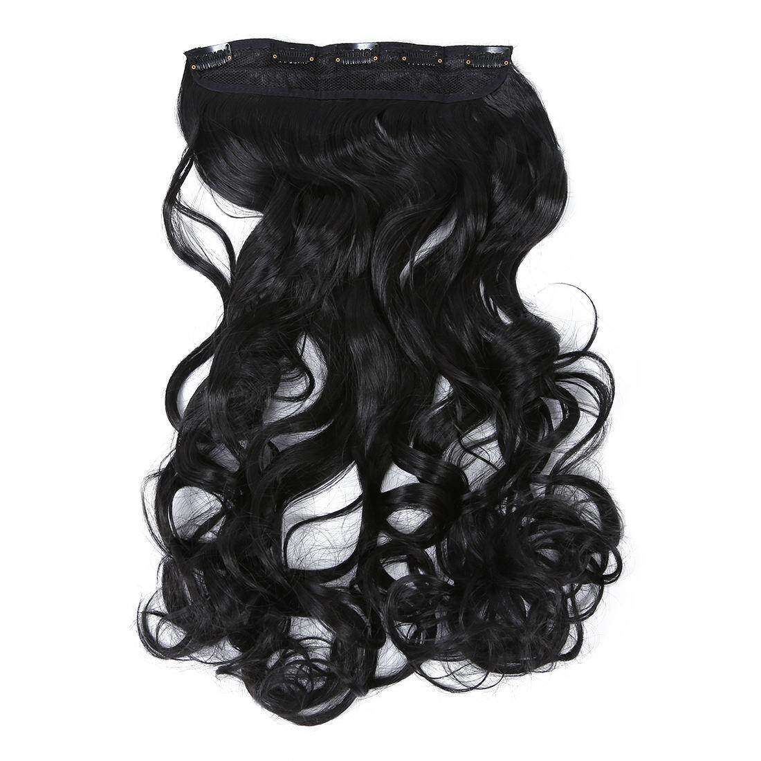Features Real Thick Hair Extensions Long Wavy Curly Synthetic Wigs
