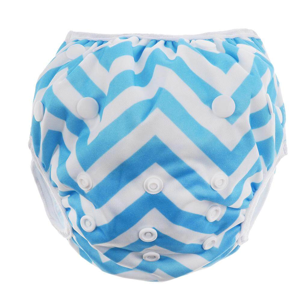 Magideal Swim Diaper Nappy Pants Reusable Adjustable Infant Baby Boy Girl Toddler Blue - Intl By Magideal.