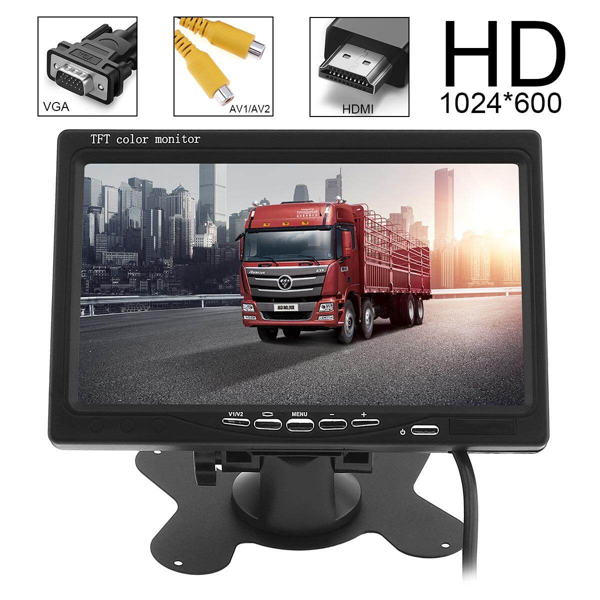 7 Inch HD LCD Color Car Rear View Monitor 2 Video Input DVD VCD Headrest Vehicle