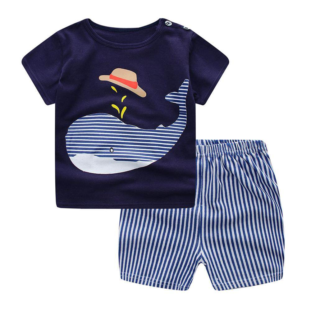 96e62f6de5c22 2Pcs Baby Clothes Set T-shirt + Shorts Casual Set Kids Cartoon