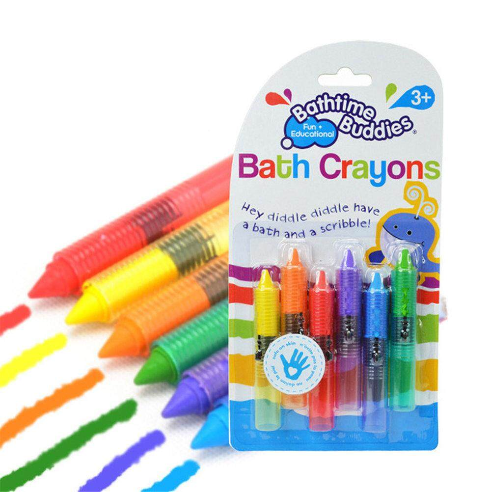 Novelty 6pcs/set Creative Baby Bath Toy Colorful Crayons For Kids & Toddlers Washable Bathtime Safety Fun Play Educational Kids Toy By La Chilly.
