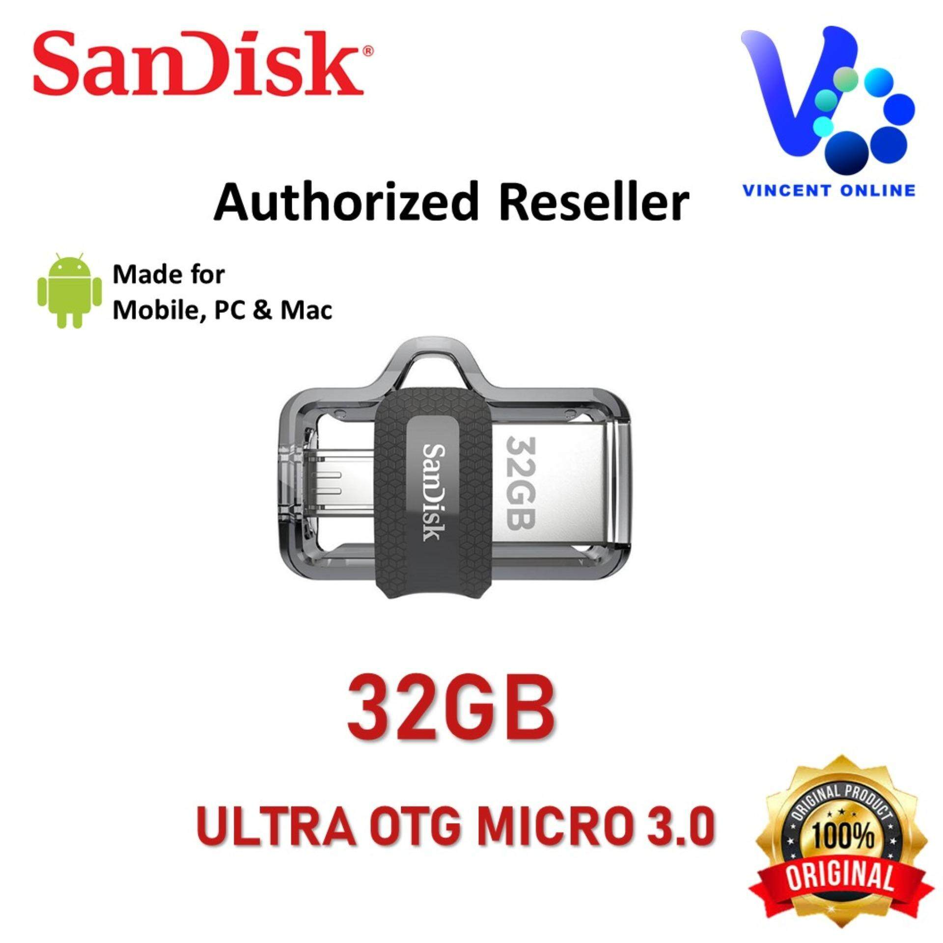 Sandisk Ultra Dual 64gb M30 Usb 30 Otg Flash Drive For Android 32gb Malaysia