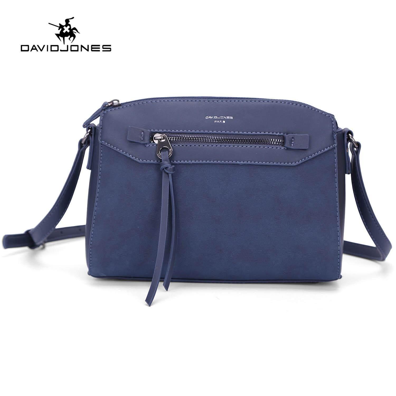 f22da7a1720 DAVIDJONES women handbag pu leather female shoulder bag small lady  patchwork shoulder bag girl casual messenger