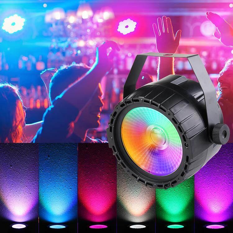 【Free Pengiriman + Flash Deal】 5 Pcs LED Panggung Musik Lampu Pesta 30 W RGB UV COB Lampu Pijar DJ DMX512 Cahaya untuk Holiday Pesta Bar Acara Pesta